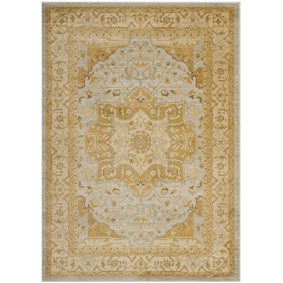 Austin Light Grey/Gold Area Rug Rug Size: 6'7