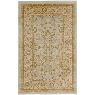 Austin Light Gray/Gold Area Rug Rug Size: 53 x 76