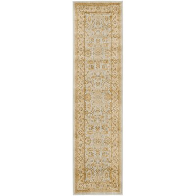 Austin Light Gray/Gold Area Rug Rug Size: Runner 23 x 8