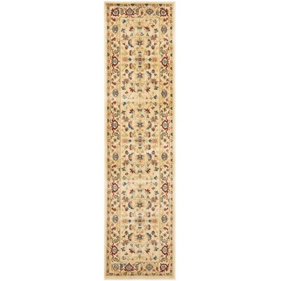 Blossom Light Blue/Ivory Floral Area Rug Rug Size: Runner 23 x 8