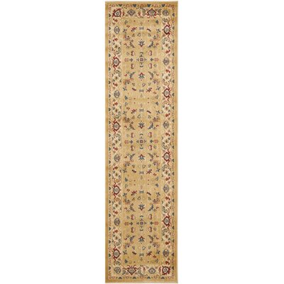 Austin Power Loom Synthetic Beige Area Rug Rug Size: Runner 23 x 8