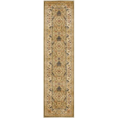 Austin Green/Cream Area Rug Rug Size: Runner 23 x 8