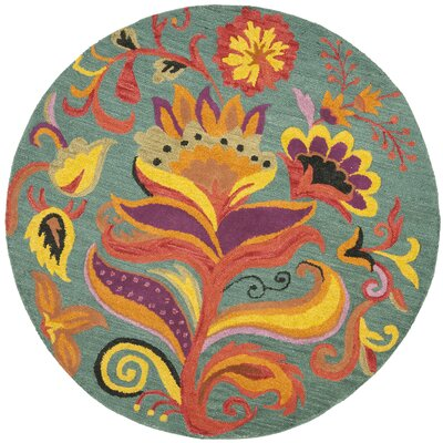 Broadmoor Blossom Area Rug Rug Size: Round 8