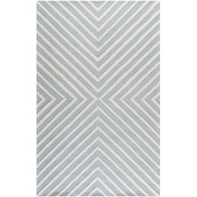 Weybridge Hand Woven Wool Light Blue/Ivory Area Rug Rug Size: Rectangle 2 x 3