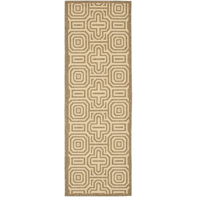 Jefferson Place Natural & Brown Outdoor Area Rug Rug Size: Runner 23 x 10