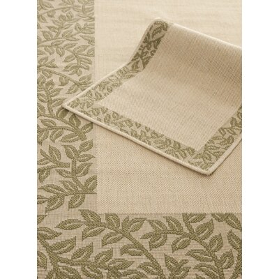 "Safavieh Courtyard Natural/Green Rug Set - Rug Size: 6'6"" x 9'6""/1'8"" x 2'8"" at Sears.com"