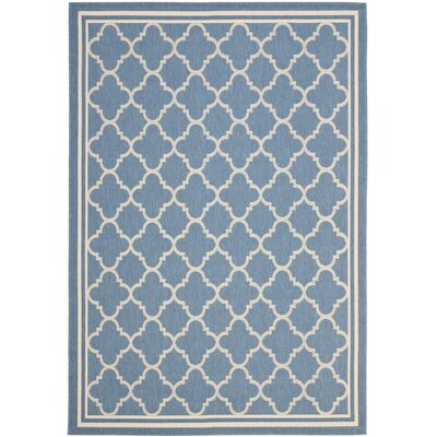 Bexton Blue Indoor/Outdoor Area Rug Rug Size: Rectangle 53 x 77
