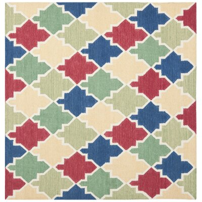 Dhurries Area Rug Rug Size: Square 6'