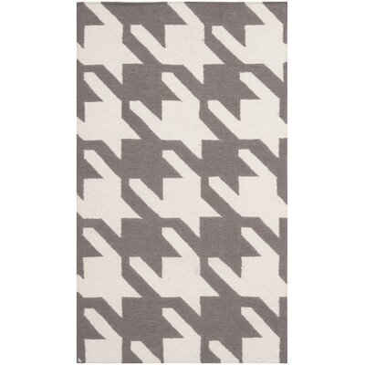 Dhurries Purple/Ivory Area Rug Rug Size: Rectangle 5 x 8