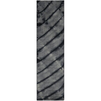 Expression Grey Area Rug Rug Size: Runner 23 x 8