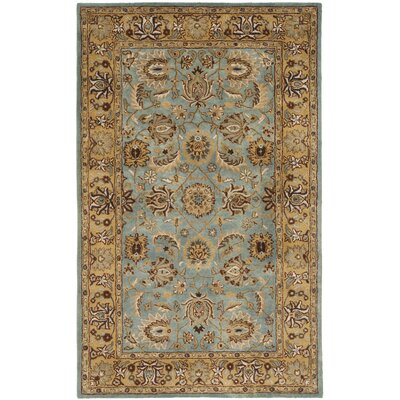 Cardwell Hand-Tufted Blue/Beige Area Rug Rug Size: Rectangle 6 x 9