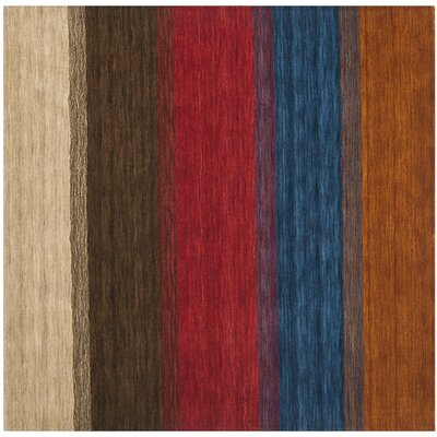 Himalaya Red/Green Area Rug Rug Size: Square 6'