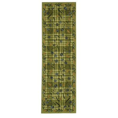 Kinchen Ivory/Sage Plaid Area Rug Rug Size: Runner 26 x 8