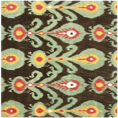 Ikat Area Rug Rug Size: Square 6