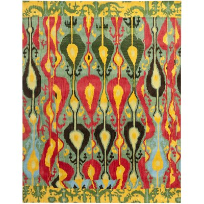 Ikat Area Rug Rug Size: Rectangle 5 x 8