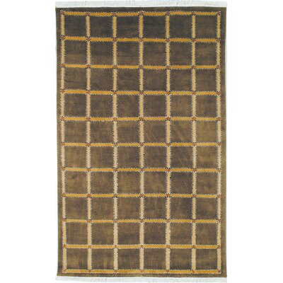 Lexington Soft Green/Beige Rug Rug Size: 4 x 6