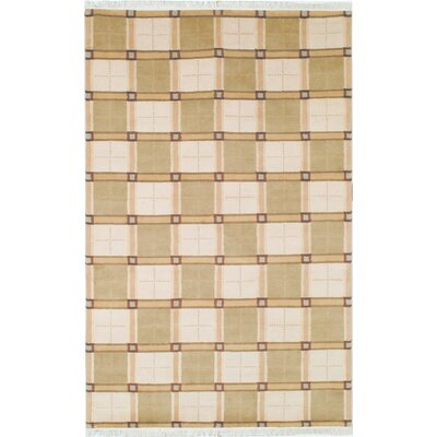 Lexington Ivory/Green Rug Rug Size: 6 x 9