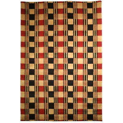 Lexington Red/Black Rug Rug Size: 6 x 9