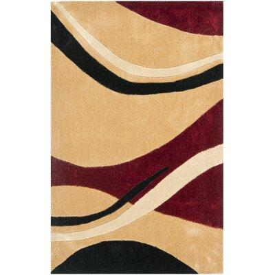 Modern Art Rust/Ivory Rug Rug Size: 9 x 12
