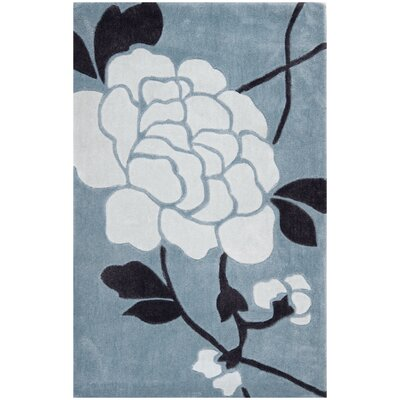 Modern Art Blue/Ivory Rug Rug Size: Rectangle 9 x 12