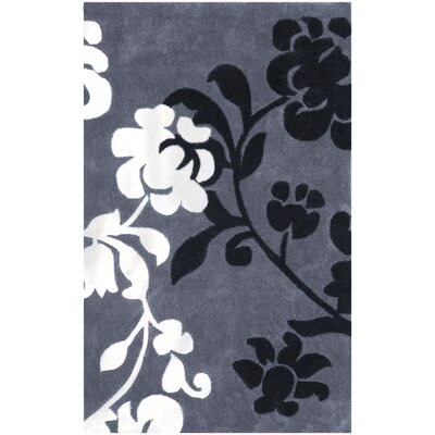 Modern Art Dark Gray/Multi Rug Rug Size: Rectangle 26 x 4