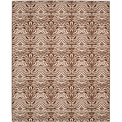 Metropolis Creme/Brown Rug Rug Size: Rectangle 47 x 66