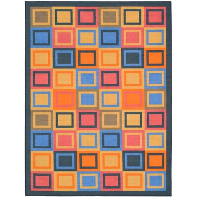 Metropolis Blue/Multi Rug Rug Size: Rectangle 47 x 66
