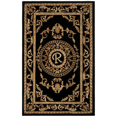 Naples Black R Area Rug Rug Size: 5 x 8