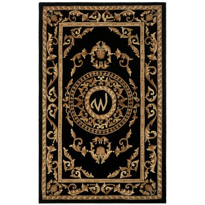 Naples Black W Area Rug Rug Size: Rectangle 5 x 8