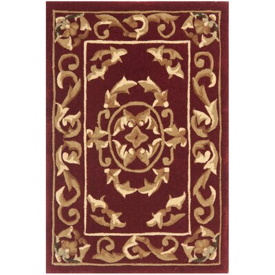 Naples Burgundy Area Rug Rug Size: Runner 23 x 12