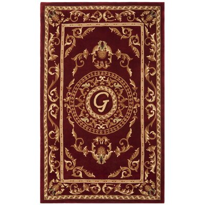 Naples Burgundy G Area Rug Rug Size: Rectangle 5 x 8