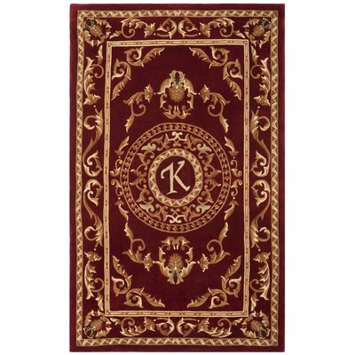 Naples Burgundy K Area Rug Rug Size: Rectangle 5 x 8