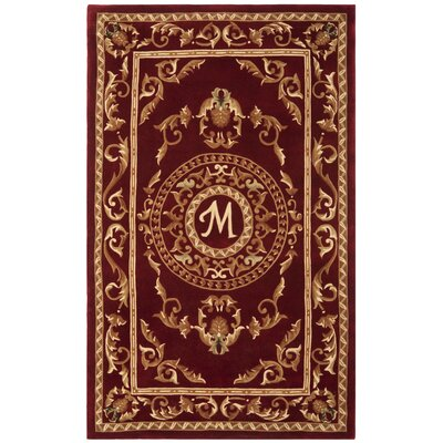 Naples Burgundy M Area Rug Rug Size: Rectangle 5 x 8