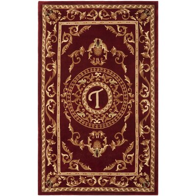 Naples Burgundy T Area Rug Rug Size: Rectangle 5 x 8