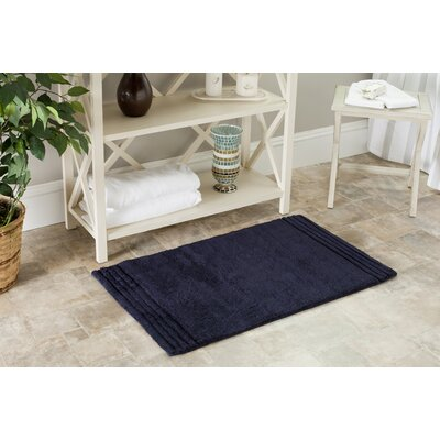 Plush Master Bath Rug Size: 21 x 34, Color: Navy/Navy