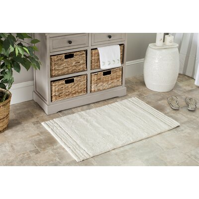 Plush Master Bath Rug Size: 27 x 45, Color: Natural/Natural