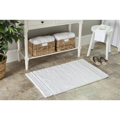 Plush Master Bath Rug Size: 21 x 34, Color: White/White