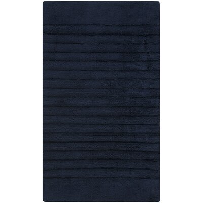 Plush Master Bath Rug Color: Navy/Navy, Size: 27 x 45