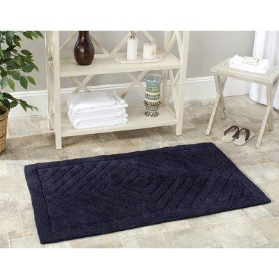 Stadler Hand-Hooked Cotton Navy Area Rug� Rug Size: Rectangle 3 x 5