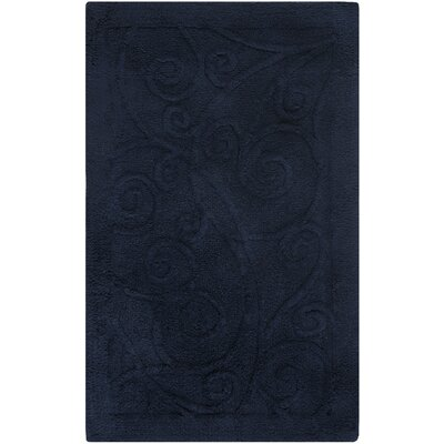 Plush Master Bath Rug VI Color: Navy, Size: 45
