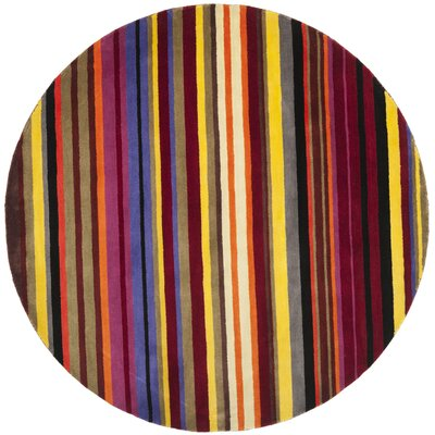 Rodeo Drive Red/Multi Rug Rug Size: Round 6'