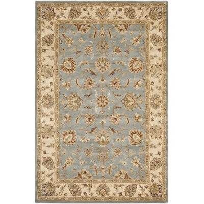 Royalty Blue/Beige Rug Rug Size: Rectangle 4 x 6