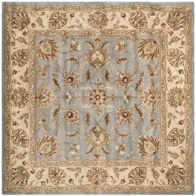 Royalty Blue/Beige Rug Rug Size: Square 7