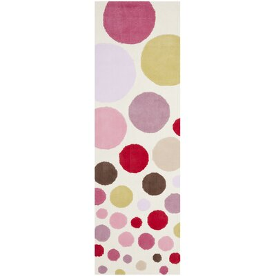 Kids Hand-Tufted Pink Area Rug Rug Size: Runner 23 x 7