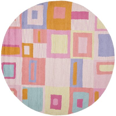 Claro Geometric Pink Area Rug Rug Size: Rectangle 4 x 6