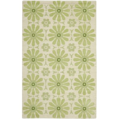 Claro Beige/Green Area Rug Rug Size: Square 7