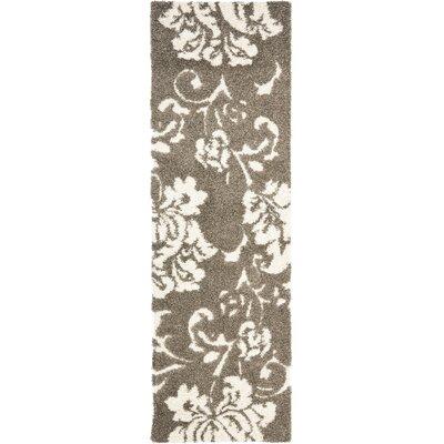 Flanery Dark Beige Area Rug Rug Size: Runner 23 x 7