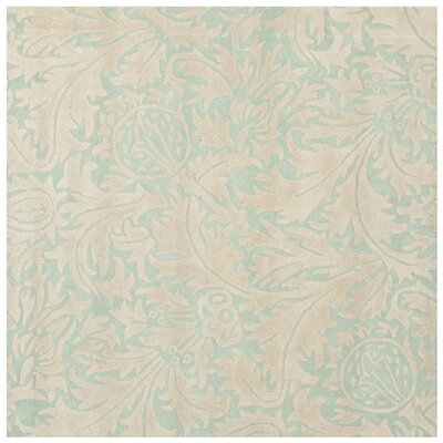 Soho Light Blue/Beige Rug Rug Size: Square 6