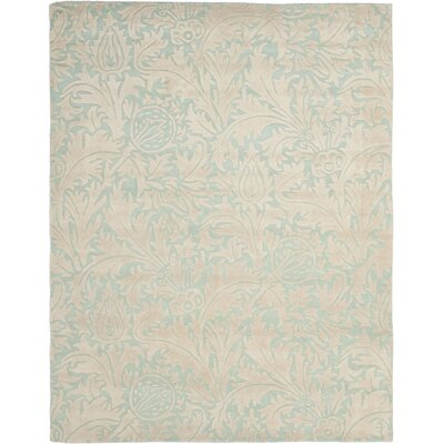 Soho Light Blue/Beige Rug Rug Size: Rectangle 76 x 96