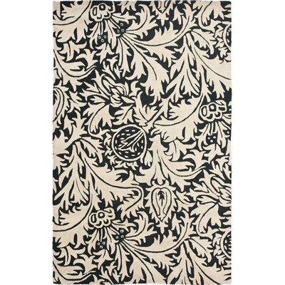 Soho Black/Beige Rug Rug Size: Rectangle 36 x 56